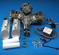 Nuevo motor de gasolina DLE DLE120 escape trasero 120CC para Avión RC|gasoline engine|rc exhaust|dle engine -