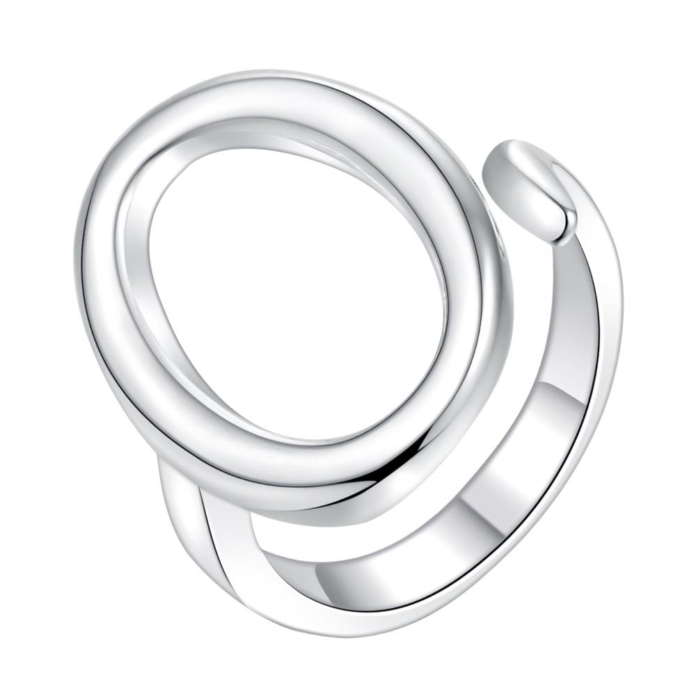 FleißIg Luxus Einfache Ringe Für Frauen Silber Überzogene Einstellbare Ring Marke Mode Schmuck Großhandel Offenen Design Ring Ar249 Um Eine Reibungslose üBertragung Zu GewäHrleisten