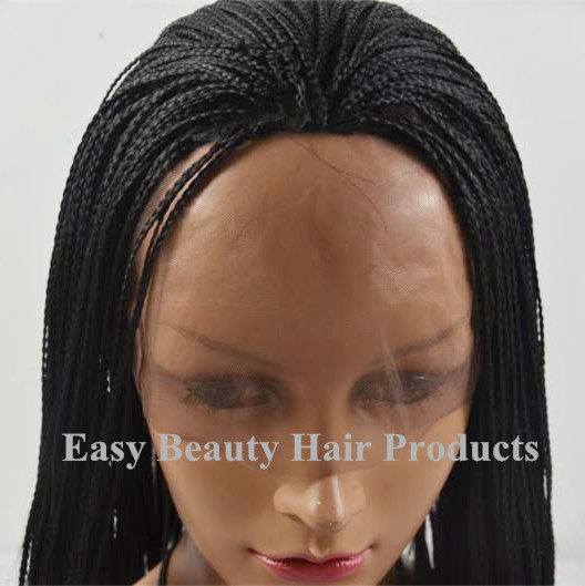 Top Quality Micro Braids Synthetic Wig With Baby Hair Braided Lace Front Heat Resistant African