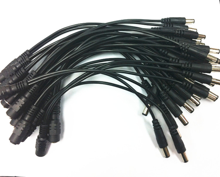 10pcs//lot 1to2 atx sata male power to 2-port DC 5.5//2.1mm male 12V 50cm