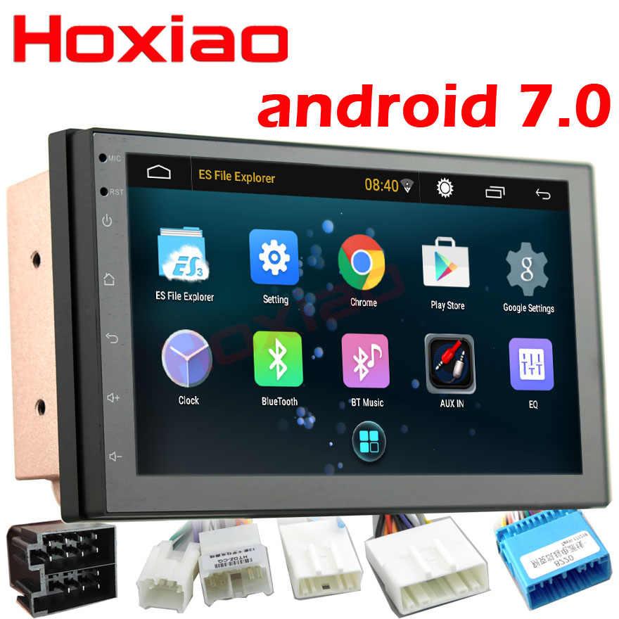 2 Din Android 7,0 coche Radio reproductor multimedia navegación GPS Universal Bluetooth WiFi 2din Autoradio estéreo Cámara dvr mapa