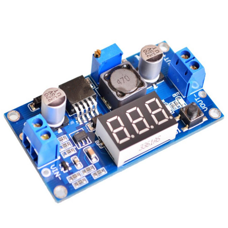 LM2596 LM2596S LED Voltmeter DC-DC Step-down Step Down Adjustable Power Supply Module With Digital Display for arduino liquid crystal displays dc dc step down power supply adjustable push button module with lcd display