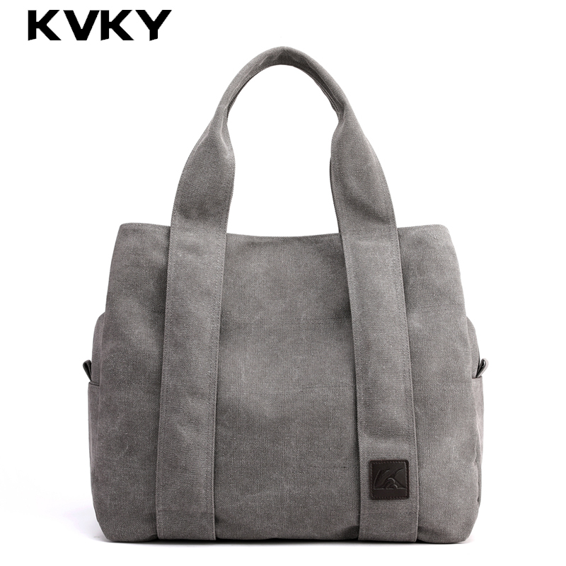 Vintage Canvas Women Handbag Casual Tote Bag Ladies Hand Bag Large Capacity Female Shoulder Bag For Women Handbag Bolsa FemininaVintage Canvas Women Handbag Casual Tote Bag Ladies Hand Bag Large Capacity Female Shoulder Bag For Women Handbag Bolsa Feminina
