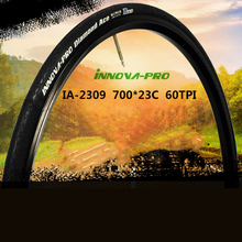 лучшая цена Black Road bike tires anti puncture ultralight 251g cycling folding tyres Cycling Bicycle Tires 700*23C IA2309 INNOVA