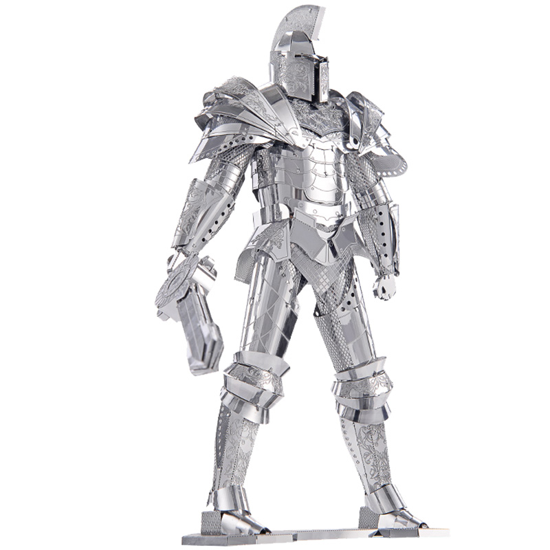 3D Metal Puzzle Stainless Steels P079-S Black Knight Model The Warriors Gate DIY 3D Laser Cut Toy Assemble Models Toy cubicfun 3d puzzle paper building model assemble gift diy baby toy the hall of supreme harmony world s great architecture mc127h
