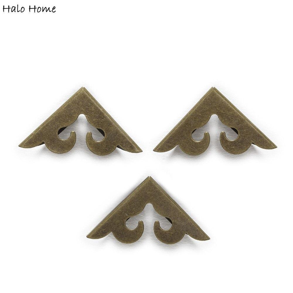 30 Peça de Bronze Antigo Chapeado Suave Livro Scrapbooking Caixa De Sacos de Metal Pés Perna Álbuns Folders Canto Protetores 39x28mm