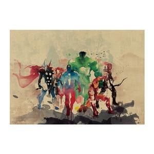 Винтажные фигурки Marvel из крафт-бумаги «Мстители 4», «Железный человек», «Капитан Америка», «Человек-паук», домашний декор, детские игрушки