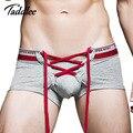 Marca sexy mens underwear gay penis pouch wonderjock taddlee u convexos boxers de algodão dos homens boxer shorts troncos cintura baixa projetado