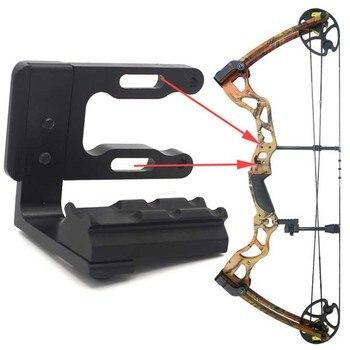 Soporte de caza arco recurvo compuesto arco de caza 20mm soporte de alcance para mira láser de punto rojo