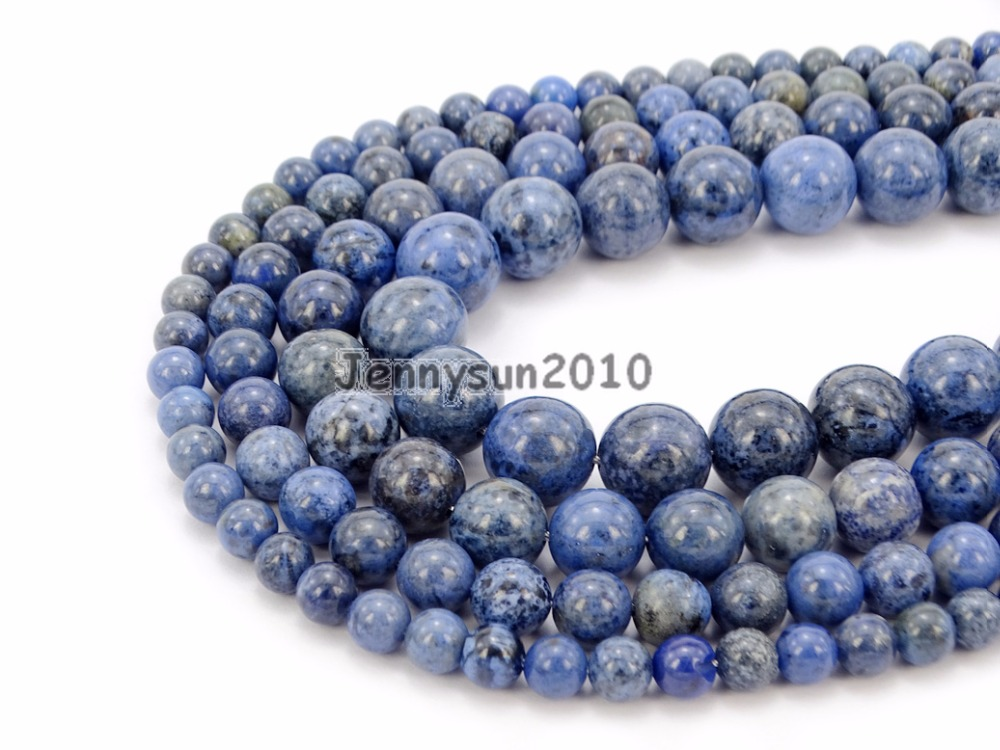 Natural Dumortierite Gems Stone Round Spacer Loose Beads 15 Jewelry Design 5 Strands Pack