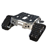 Metal Aluminum Alloy Smart Robot Tank Chassis Kits RC Tracked Car High Quality Intelligent RC Toys