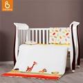Baby bedding set 100% algodão berço berçário cama colcha colchão travesseiro com enchimento fronha capa de edredão