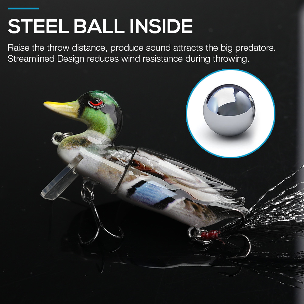 Image 3 - TREHOOK Duck Fishing Lures Swimbait 7cm 10g Floating Minnow Wobblers For Pike Fishing Artificial Hard Bait Cranks Jointed Wobler-in Fishing Lures from Sports & Entertainment