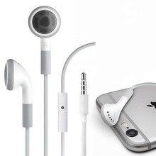 Estéreo 3.5mm jack fone de ouvido fone de controle de volume & mic para iphone 6s 5 5S 4 4S 3gs ipod ipad 2 3 handfree fones de ouvido