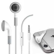 Stereo 3.5mm jack Headset Earphone Volume Control & Mic for iPhone 6 6s 5 5S 4 4S 3GS iPod ipad 2 3 Handfree Headphone Earbuds