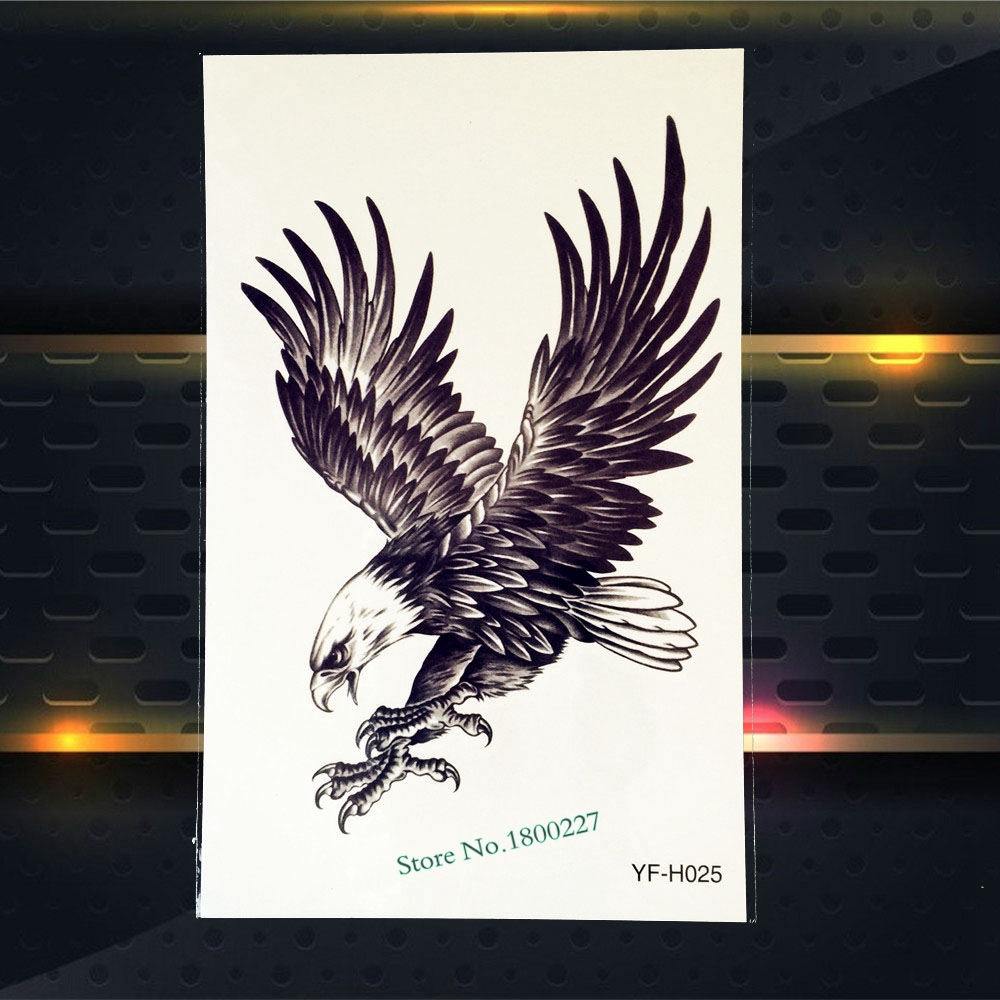 1PC Sexy Body Art Decals Temporary Tattoo Rose Blood Flying Eagles Broken Hourglass Design Waterproof Arm Tattoo Stickers PZW042