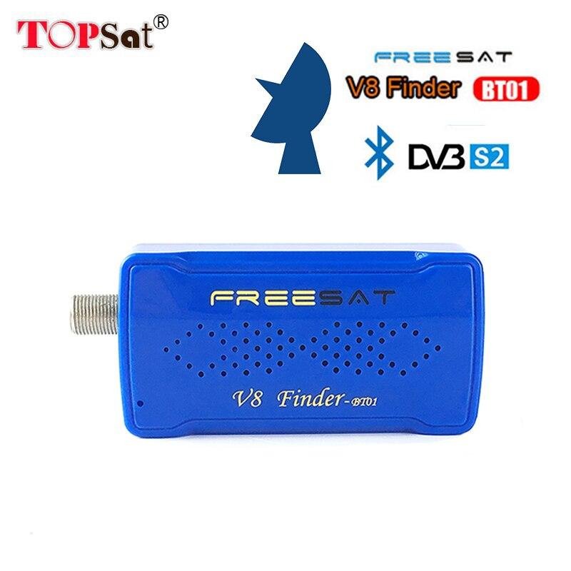 2018 Newest Freesat V8 BT01 satelite Finder DVB-S2 Multi standard demodulation & decoding pk satfinder 6906