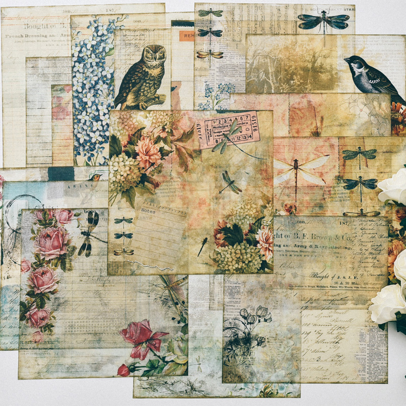 Back To Search Resultshome & Garden Vyutxa Vintage Woman Material Paper Set For Scrapbooking Diy Projects/photo Album/card Making Crafts