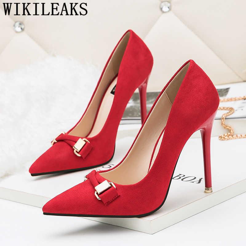 Tacchi da sposa scarpe da sera fetish degli alti talloni delle donne pompa i pattini di vestito delle donne tacchi a spillo scarpe donna tacco alto sexy tacones