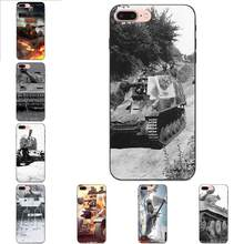 World Of Tanks Roll Out For Apple iPhone X XS Max XR 4 4S 5 5S SE 6 6S 7 8 Plus Soft Mobile Phone Case Cover(China)