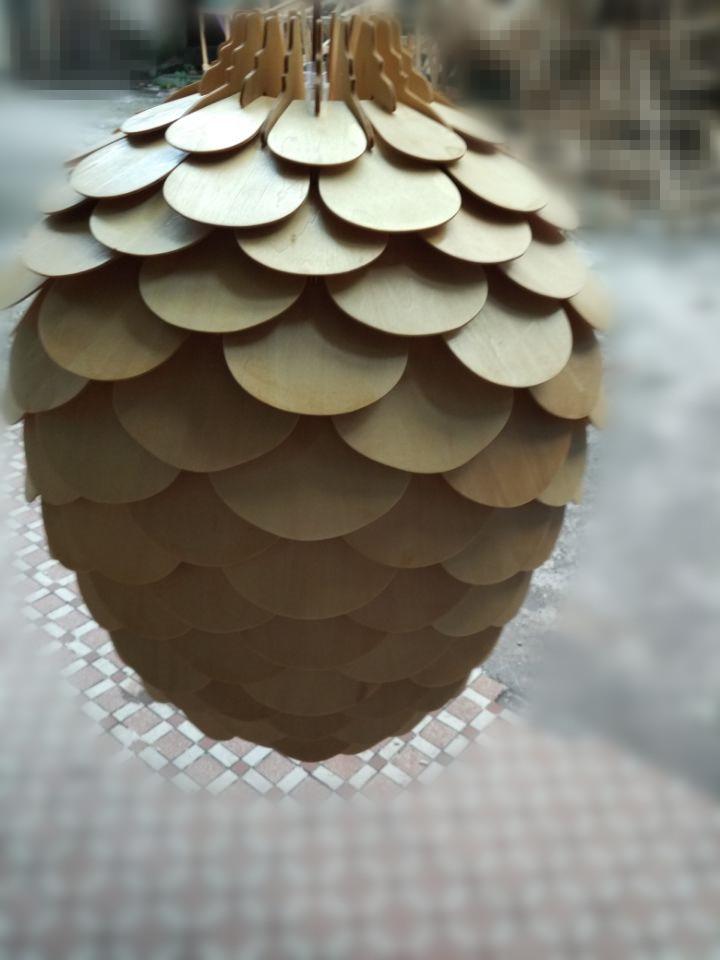 OAK Wooden Pinecone Pendant Hanging Lights