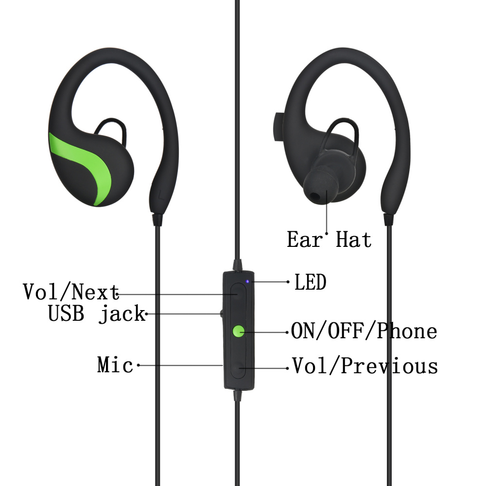 Image 5 - QAIXAG wireless hanging ear sports Bluetooth headset CSR8645 true stereo mobile phone accessories for mobile phones with Bluet-in Bluetooth Earphones & Headphones from Consumer Electronics
