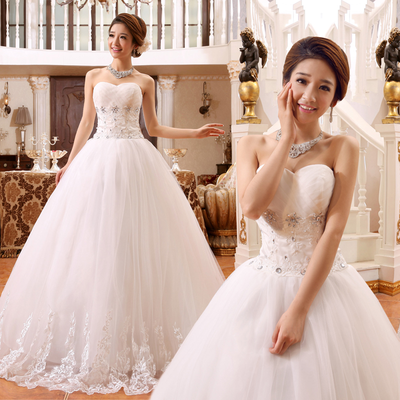 2017 new stock plus size women pregnant bridal gown wedding dress sweetheart ball gown white sexy bling cheap korea diamond 351