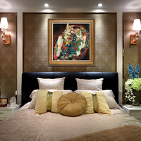 YongHe Home Decorative Oil Painting Vienna Secession Gustav Klimt Virgin Girl Customizable Spray Painting Frameless ink Poster