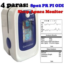 Кислорода в крови Пульсоксиметр Монитор ossimetro Сна Запись Данных Монитор SPO2 PR PI ODI