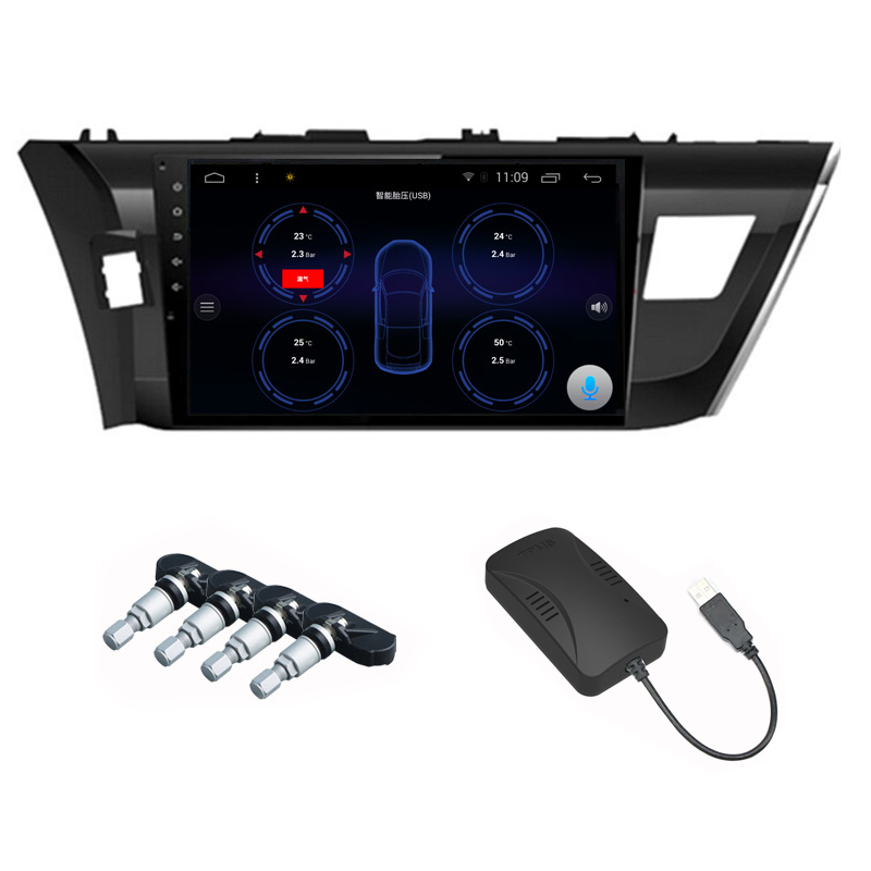 Car TPMS Tire Pressure Monitoring System USB Interface for Android OS DVD Player tpms tyre pressure monitoring system for car android dvd gps radio player car stereo