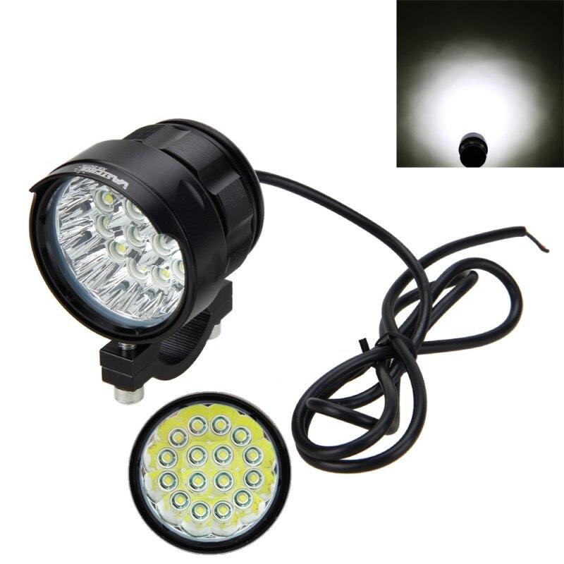 1 pièces 80W 10000LM 4 V-84 V moto 16x XM-L T6 phare LED conduite antibrouillard projecteur