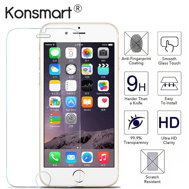 brand new ca386 52298 US $1.79 10% OFF|Screen Protector for iphone 7 glass Protective iphone 6  Plus Protect For iphone x screen protector for iphone XS MAX glass cover-in  ...