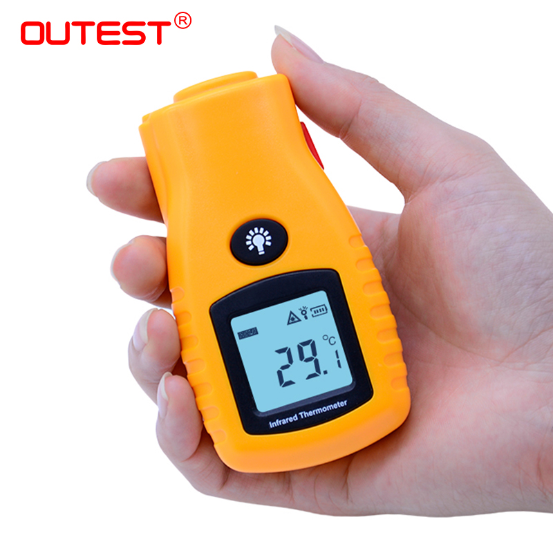 OUTEST GM270 Mini LCD Non-contact Digital Infrared Thermometer Pocket Laser Temperature Thermometer 500ms Response Time pocket mini contact lens case