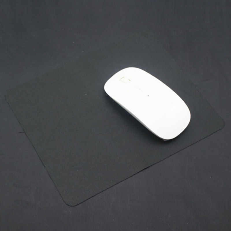 1Pcs 21X17 Cm Anti-Slip Komputer Gaming Mouse Pad Karet Alas Mouse Pad Mat Hitam untuk PC Laptop