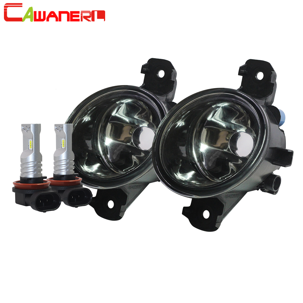 Cawanerl Car Fog Light Lampshade + H11 LED /Halogen Bulb For Nissan Micra 2005 2006 2007 2008 2009 2010 2011 2012 2013 2014 2015