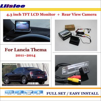 "Liislee For Lancia Thema 2011~2014 Auto Back UP Reverse Camera + 4.3"" Color LCD Monitor = 2 in 1 Rearview Parking System"
