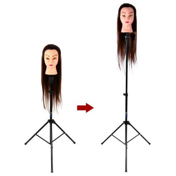 Image 3 - Adjustable Tripod Stand Holder Mannequin Head Tripod Hairdressing Training Head Holder Hair Wig Stand Tool-in Wig Stands from Hair Extensions & Wigs