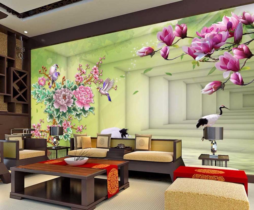 Home Decor Custom 3D Photo Mural Wallpaper Garden Backdrop Mural ...
