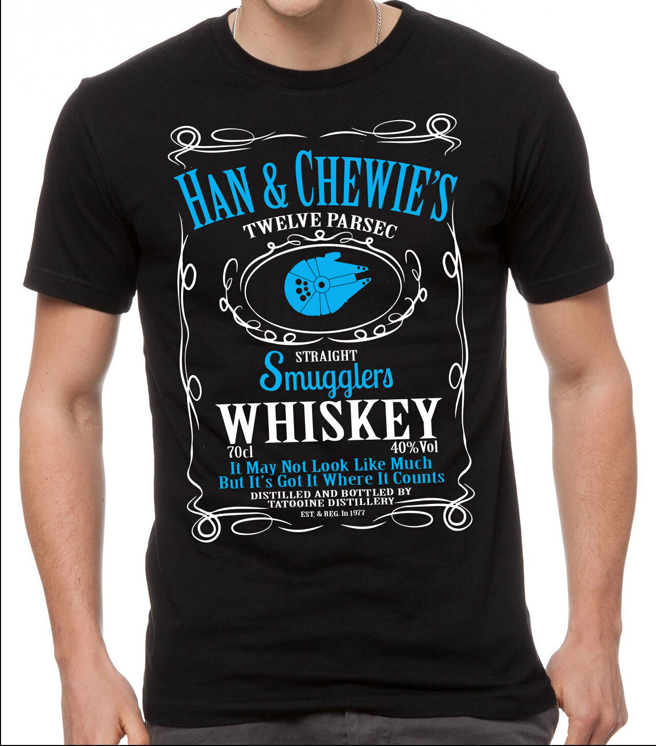 Star Wars T Shirt Han Amp Chewie S Smugglers Whiskey Black T