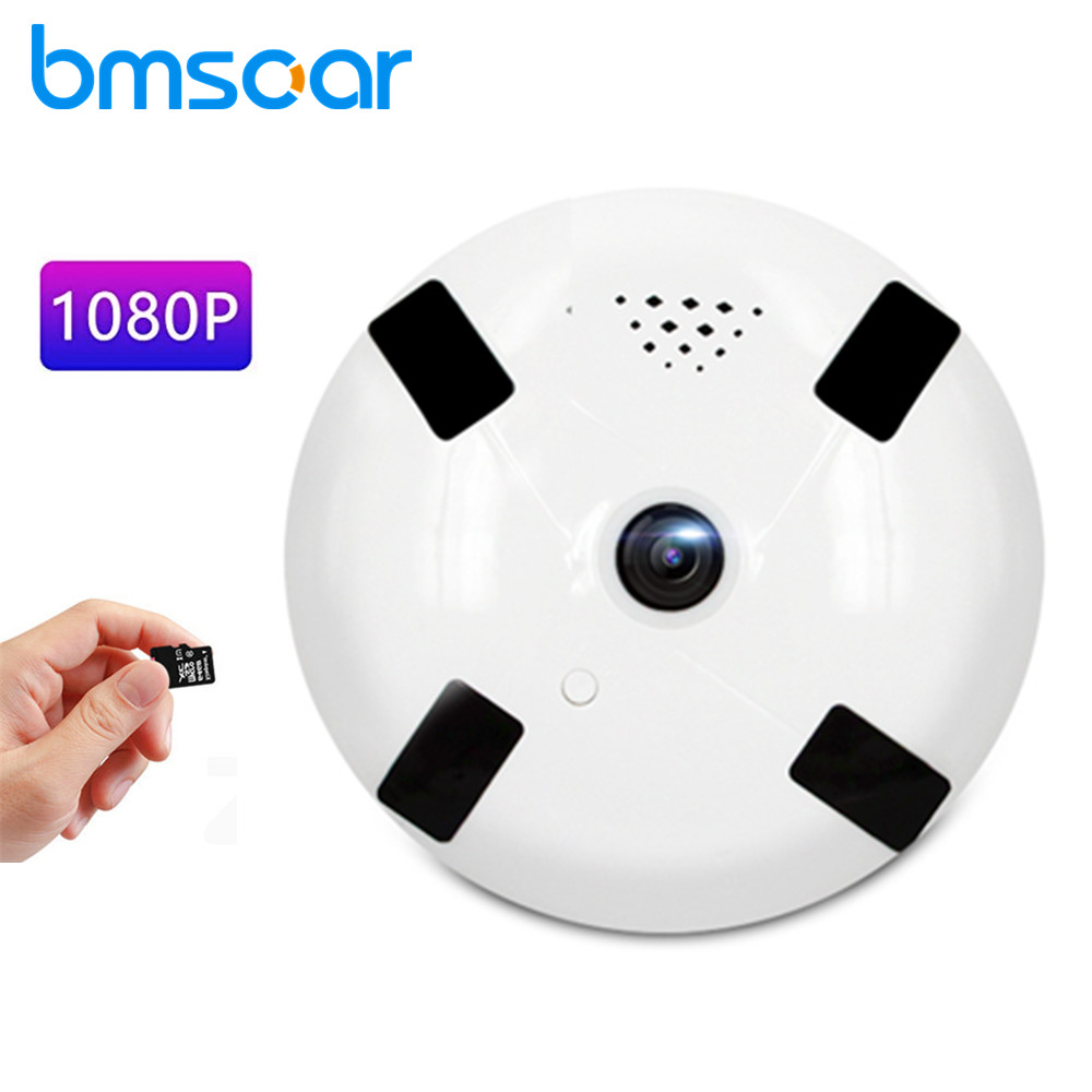 1080P HD Wifi IP Camera Wireless 360 Degree Panorama Fisheye Security Night Vision Video Surveillance Camera Support TF Card zilnk new mini lamp bulb light wifi camera fisheye 1080p hd wireless ip camera 360 degree panorama lens support 128gb tf card