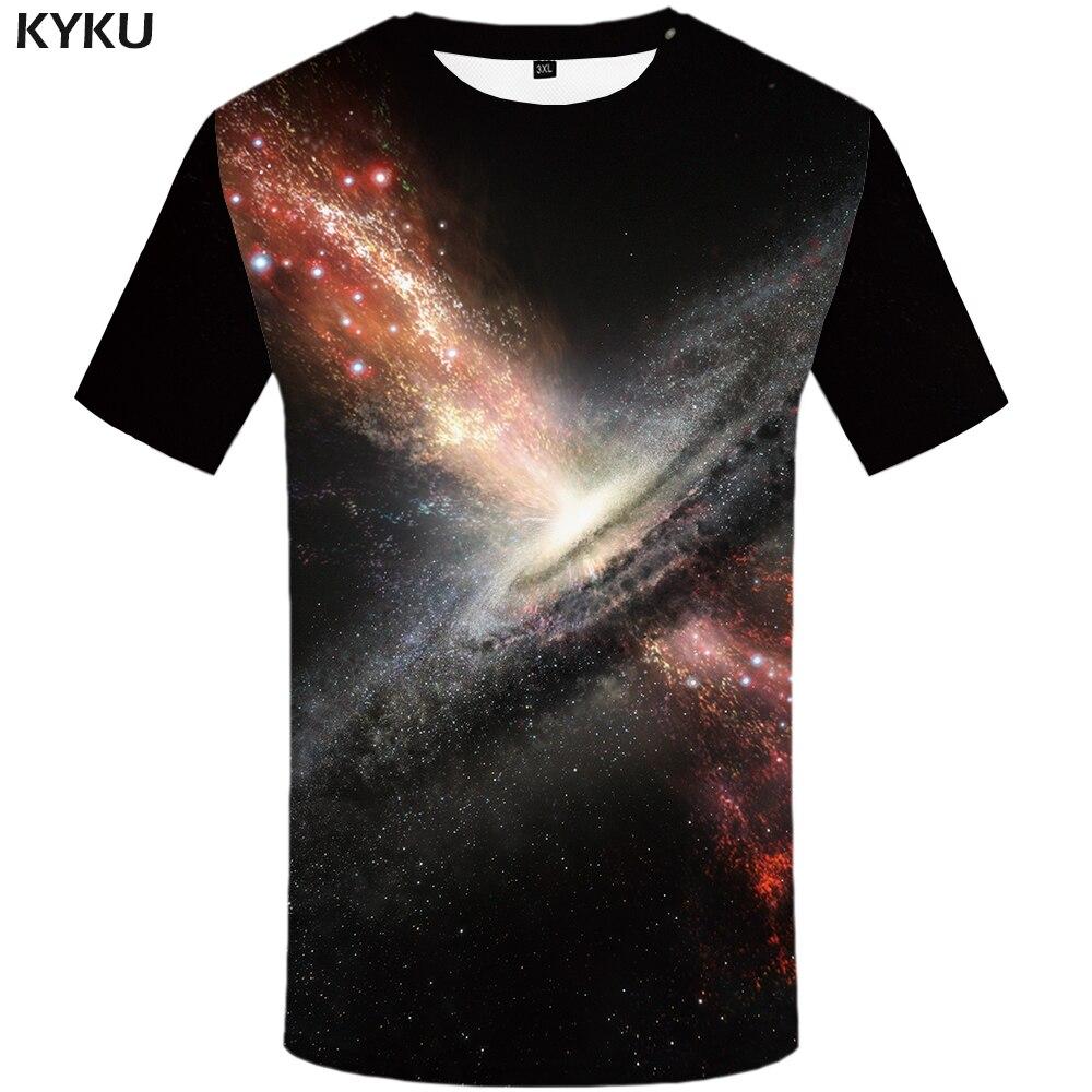 3d Tshirt Galaxy Space T Shirt Men Nebula Tshirt Printed Lightning Shirt Print Colorful T-shirts 3d Psychedelic Tshirts Casual