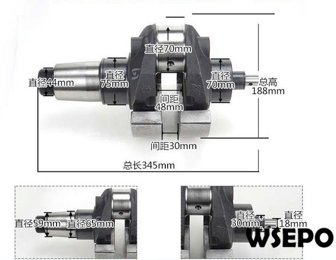 OEM Quality! Crankshaft for L32 4 Stroke Single Cylinder Small Water Cooled Diesel Engine кабель hama jack 3 5 jack 3 5 black 2 5 м
