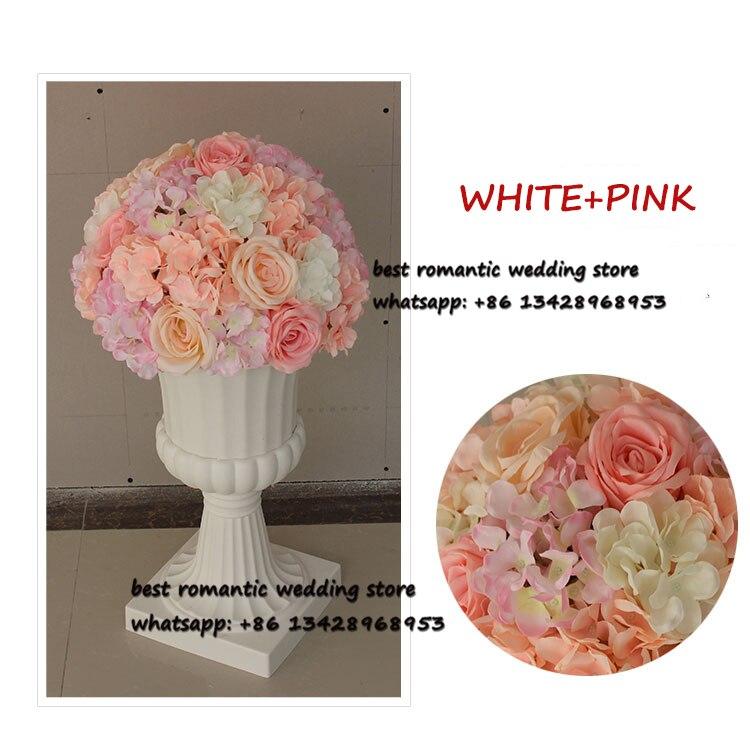 Grande boule de fleur rose et hortensia fleur table centres de table boules pour décoration de mariage