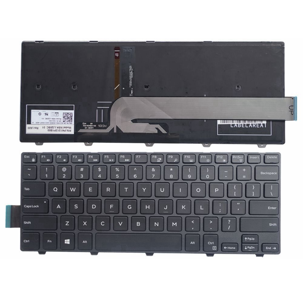 GZEELE English New Laptop Keyboard For DELL Vostro 14 5459 Backlit Backlight