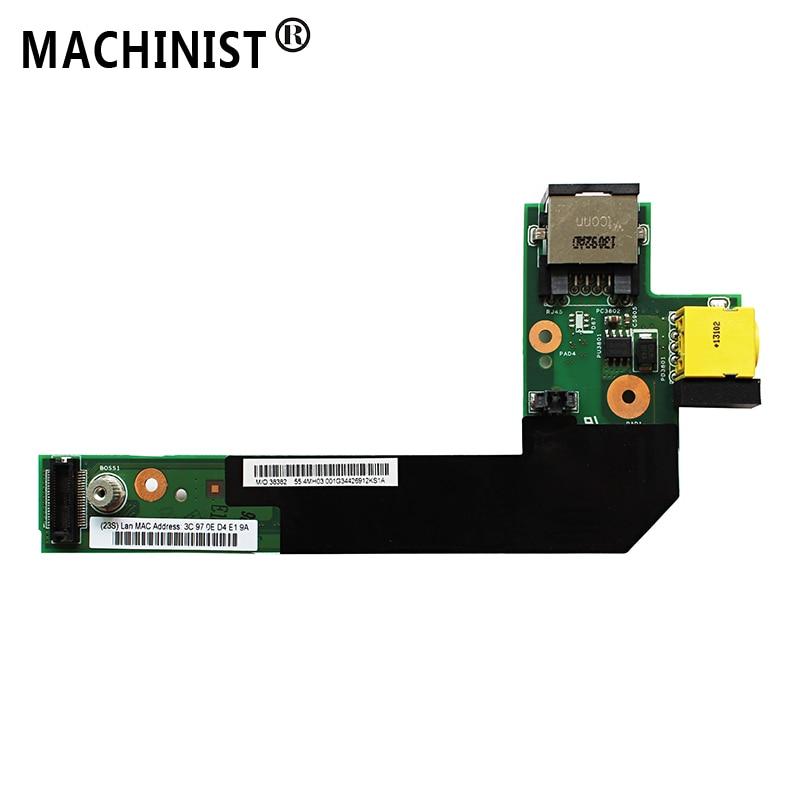 New DC-IN Power Jack Board For Lenovo Thinkpad E420 E425 E520 E525 04W1867 04W2083 LAN CARD Network Port Supply Charging Sub