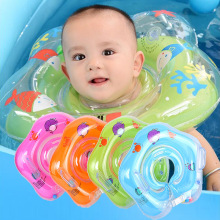 SLPF Neonatal PVC Inflatable Adjustable Collar Baby Swimming Ring Lifebuoy Children Take A Shower Kids Toys Thickening G42