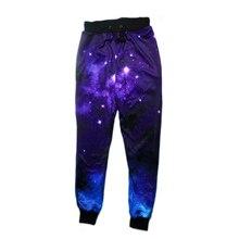 Raisevern 2019 New Fashion Joggers Pants 3D Galaxy Print Spa