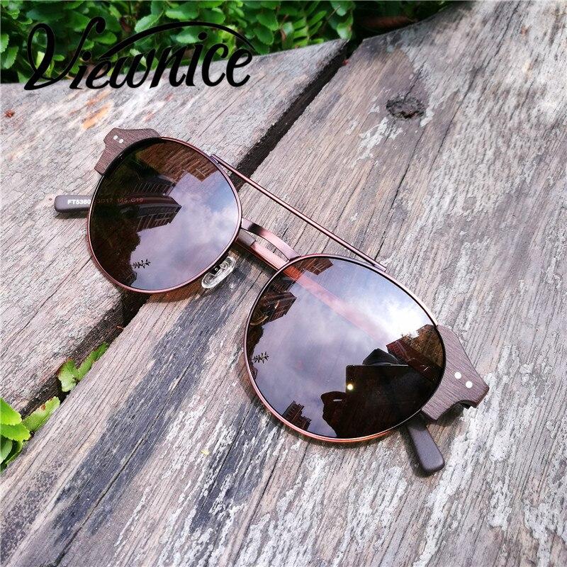 Viewnice Retro Fashion Man gafas aus holz De sol lunette de soleil - Bekleidungszubehör - Foto 3