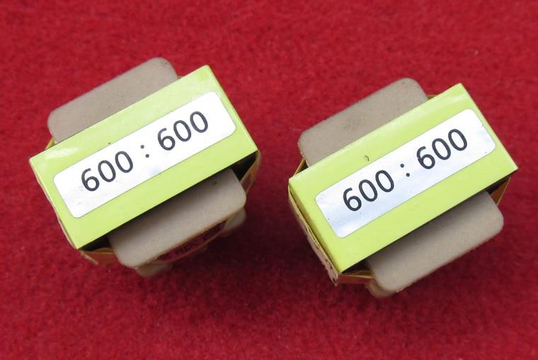 Fast Free Ship 2PCS/LOT 600:600ohm Audio Isolation Transformer Frequency Response 18Hz ~150kHz -1DB Electronic Transformer
