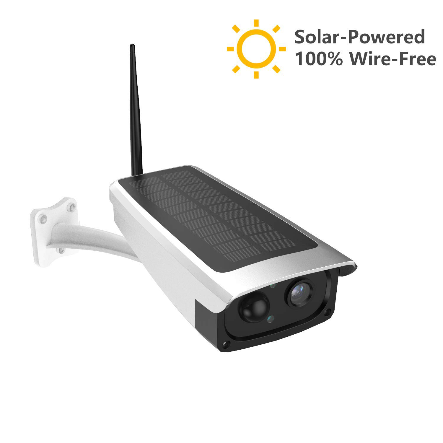 Solar Powered CCTV Security Camera IP Wifi Wireless 1080P Outdoor Indoor HD USA